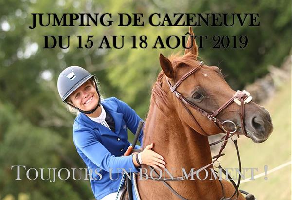 L'affiche du jumping de Cazeneuve