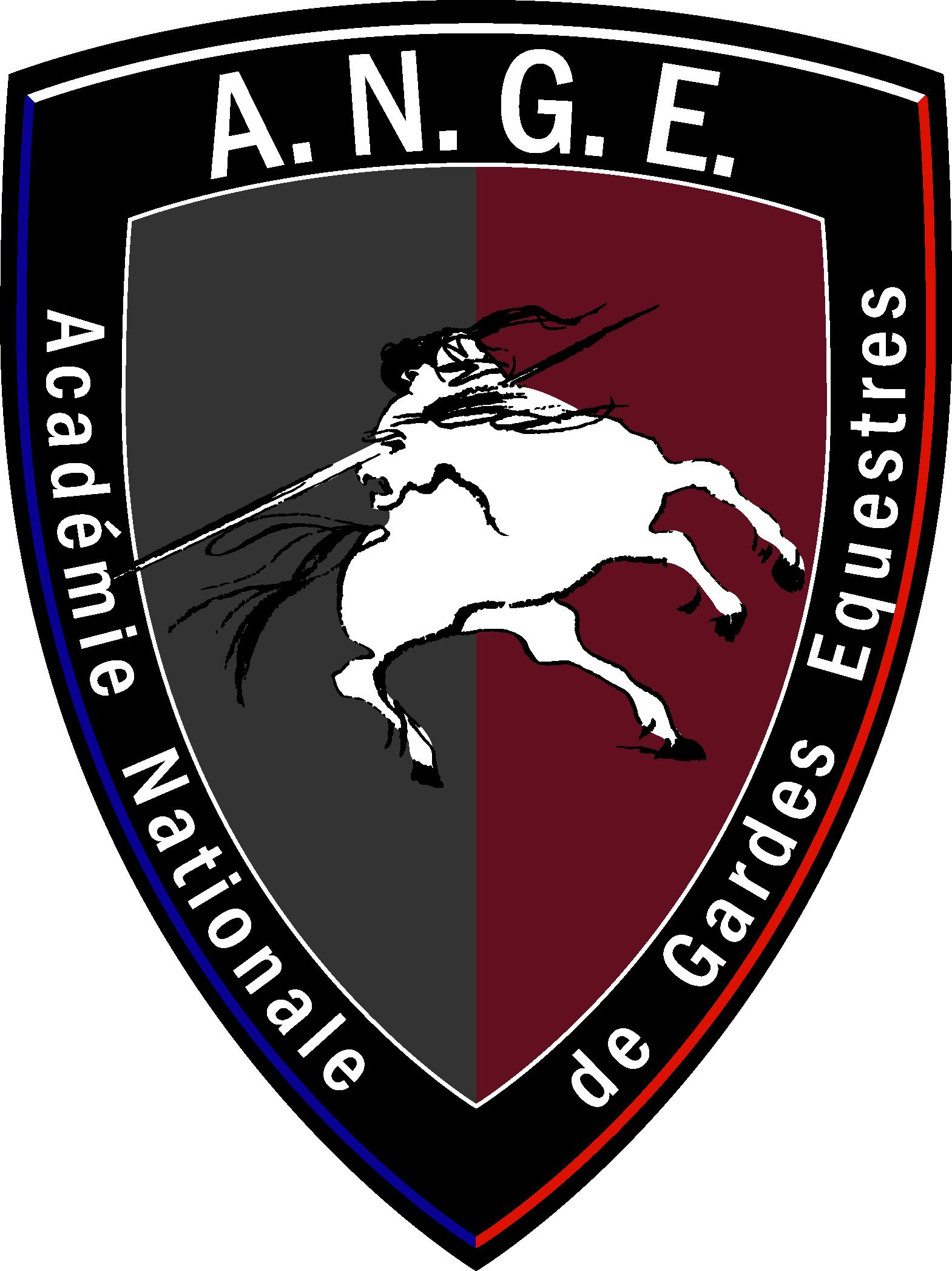 Le logo de l'académie nationale de gardes équestres