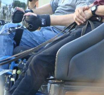 L'attelage en fauteuil roulant