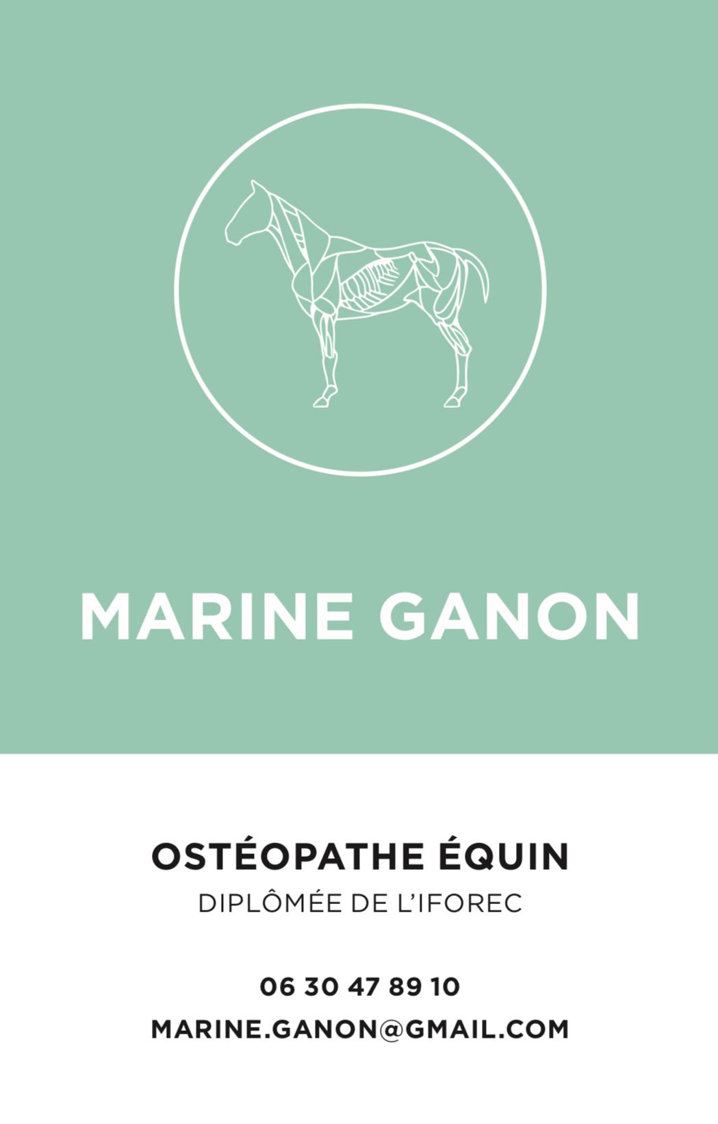 carte de visite de Marine GANON