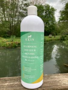 Le shampoing douceur menthe biodégradable de chez Ek1n